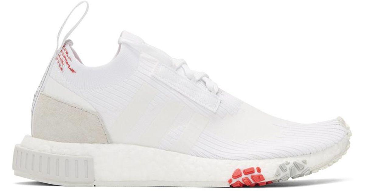 sale retailer 3fe68 bd57e adidas Originals Nmd Racer Primeknit Sneakers in White - Sav