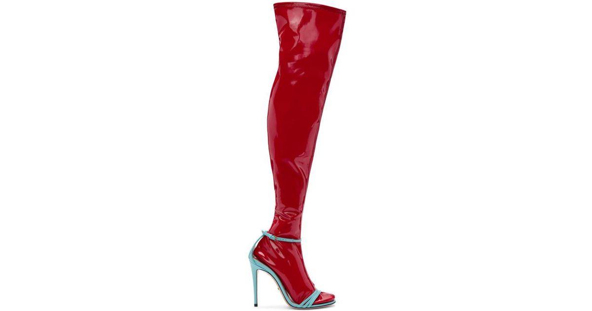 Blue \u0026 Red Ilse Naked Sock Sandals - Lyst