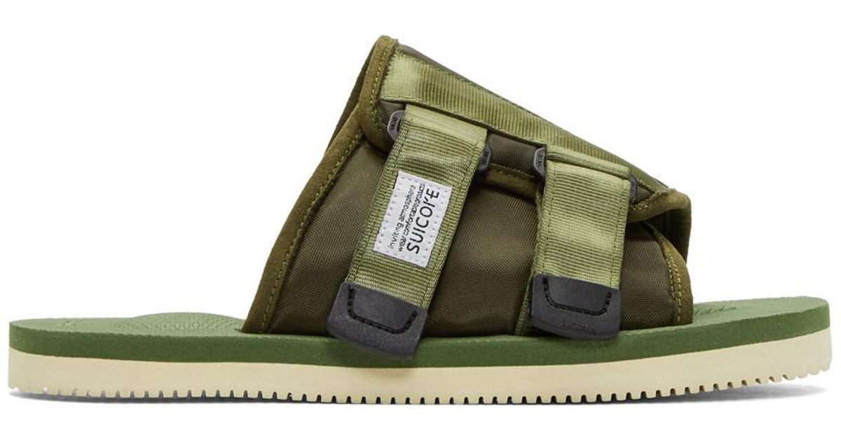 355d37d1fbbf Lyst - Suicoke Green Kaw-cab Sandals in Green for Men