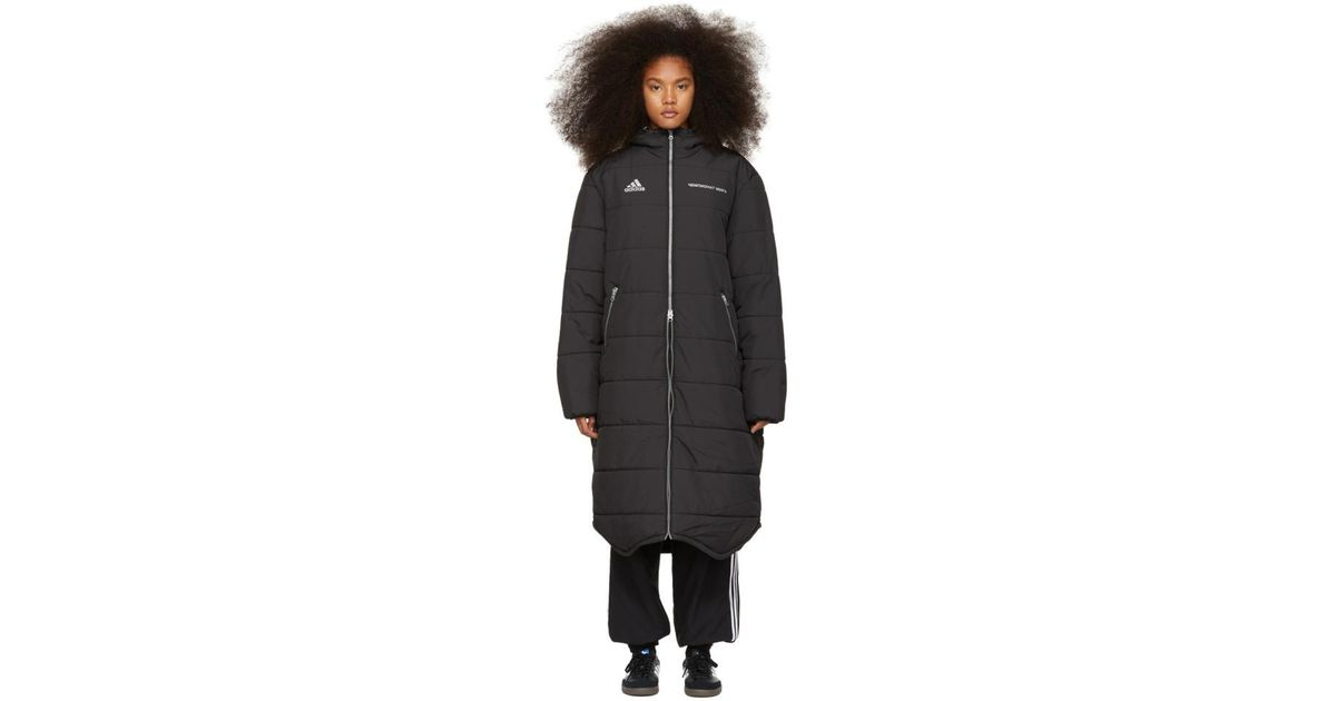 78524b51c Gosha Rubchinskiy Black Adidas Originals Edition Long Puffer Jacket