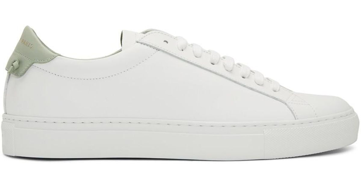 White And Green Urban Knots Sneakers