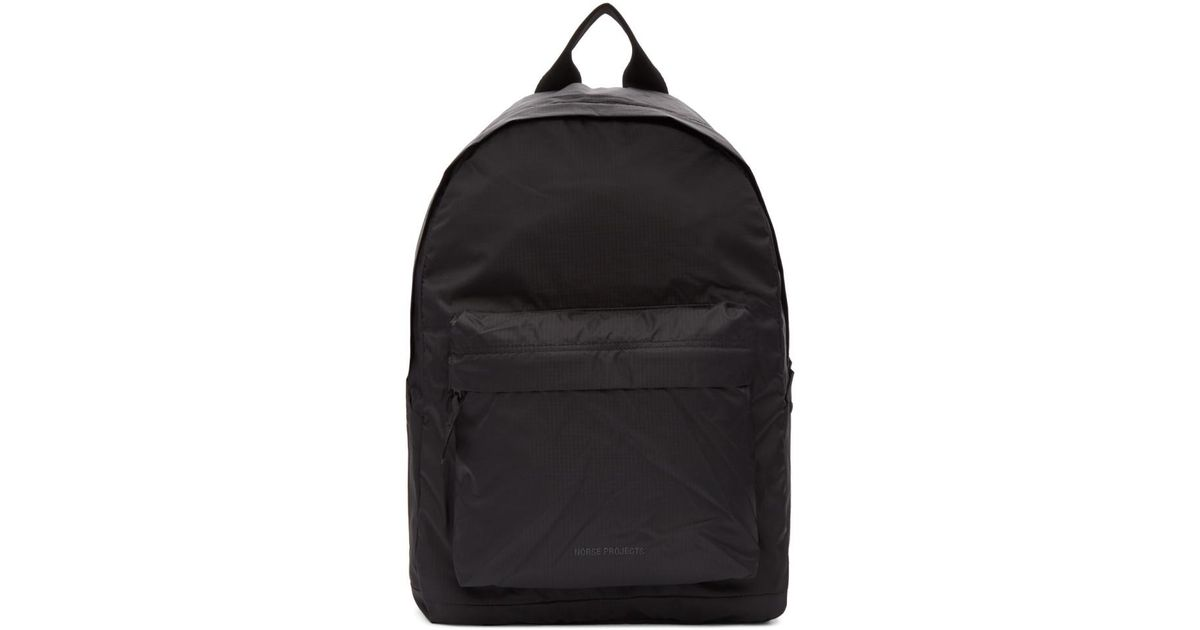 6334fdee0 Norse Projects Black Nylon Day Pack Backpack for men