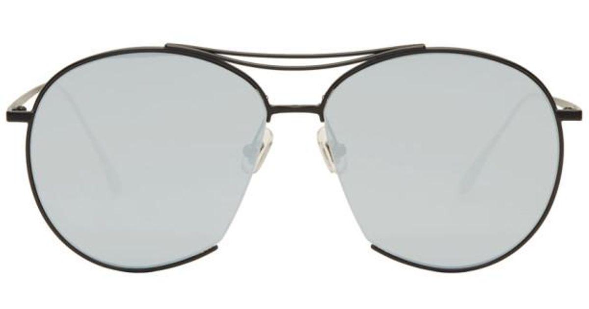 12b787b5fe0 Gentle Monster Black And Blue Jumping Jack Aviator Sunglasses in Black for  Men - Lyst