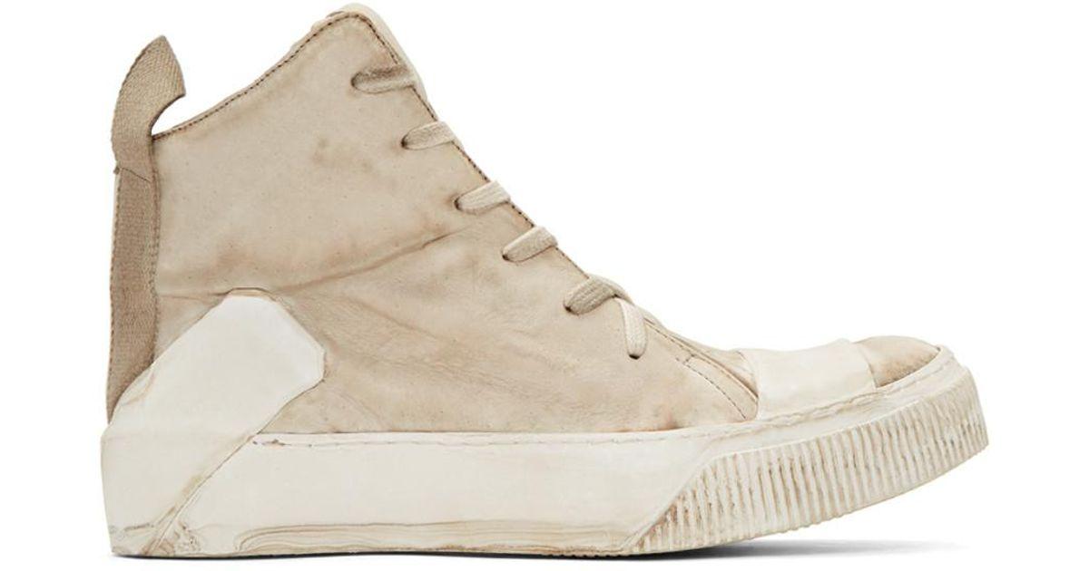 Boris Bidjan Saberi Beige Manual Industrial Products 10 High-Top Sneakers KoXhe