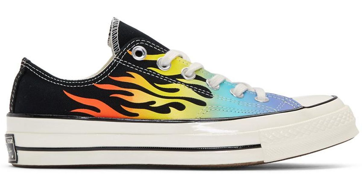 Converse Canvas Black Up In Flames Chuck 70 Sneakers for Men - Lyst