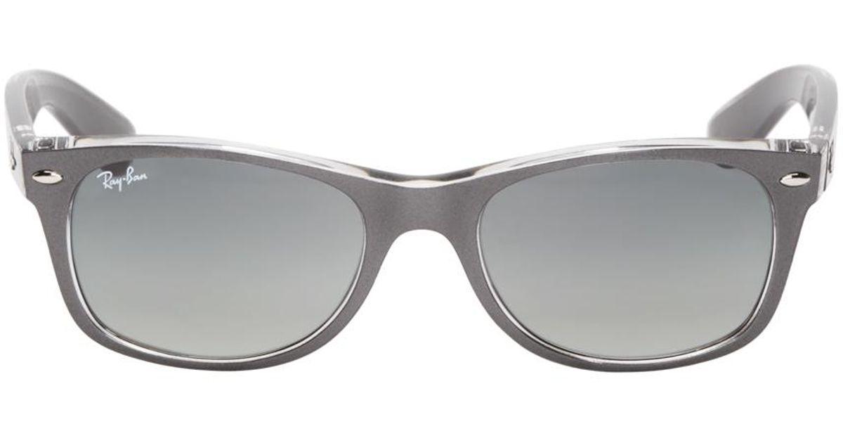 d4a84ad347 Lyst - Ray-Ban Grey Metallic New Wayfarer Sunglasses in Gray for Men