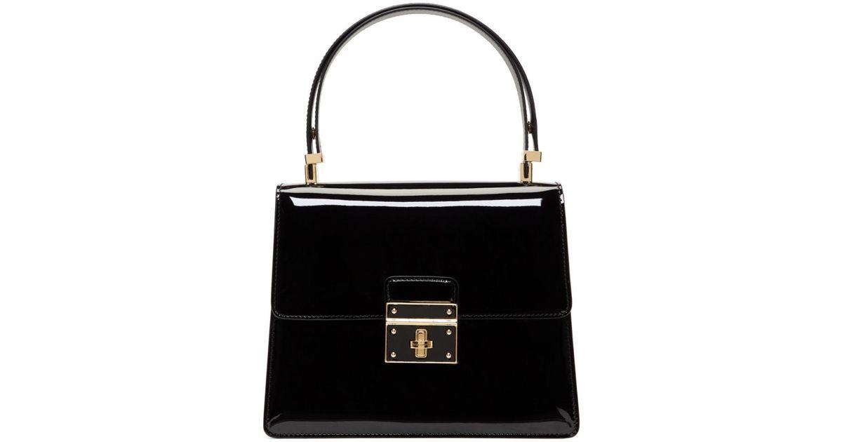 a7cc965c96 Lyst - Dolce   Gabbana Black Flap Lock Bag in Black