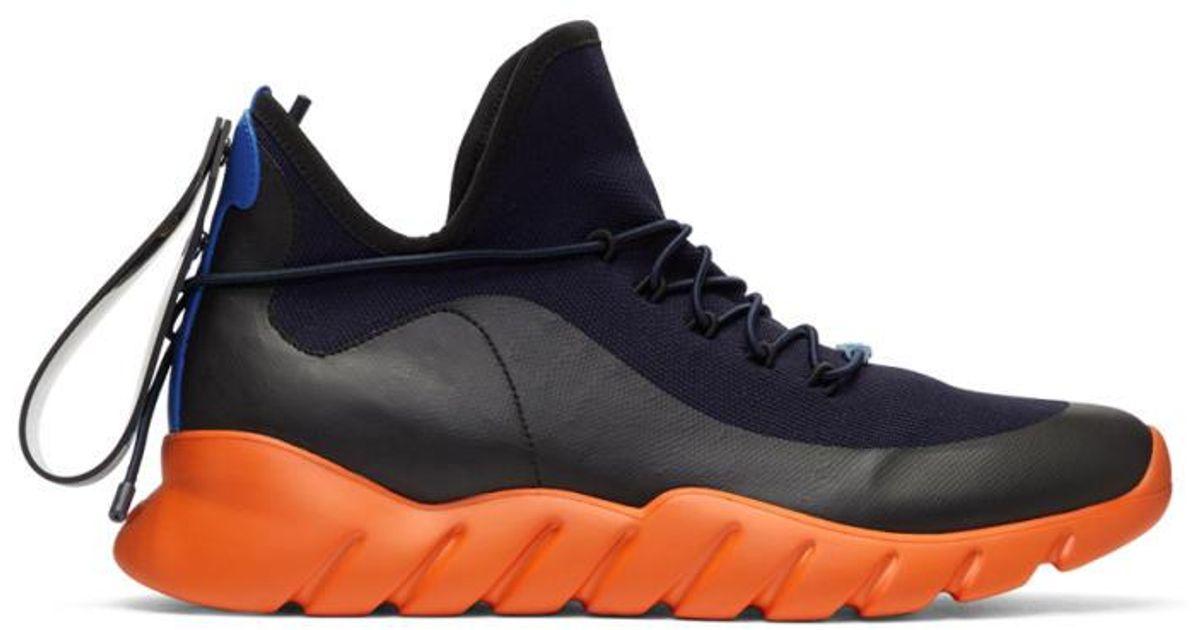 Fendi Rubber Navy \u0026 Orange Runner