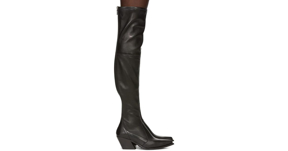 73b504dab17 Lyst - Givenchy Black Over-the-knee Cowboy Boots in Black