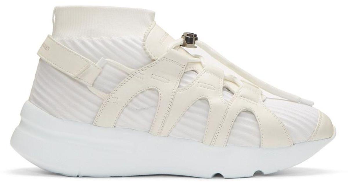 Alexander McQueen White Knit Sock