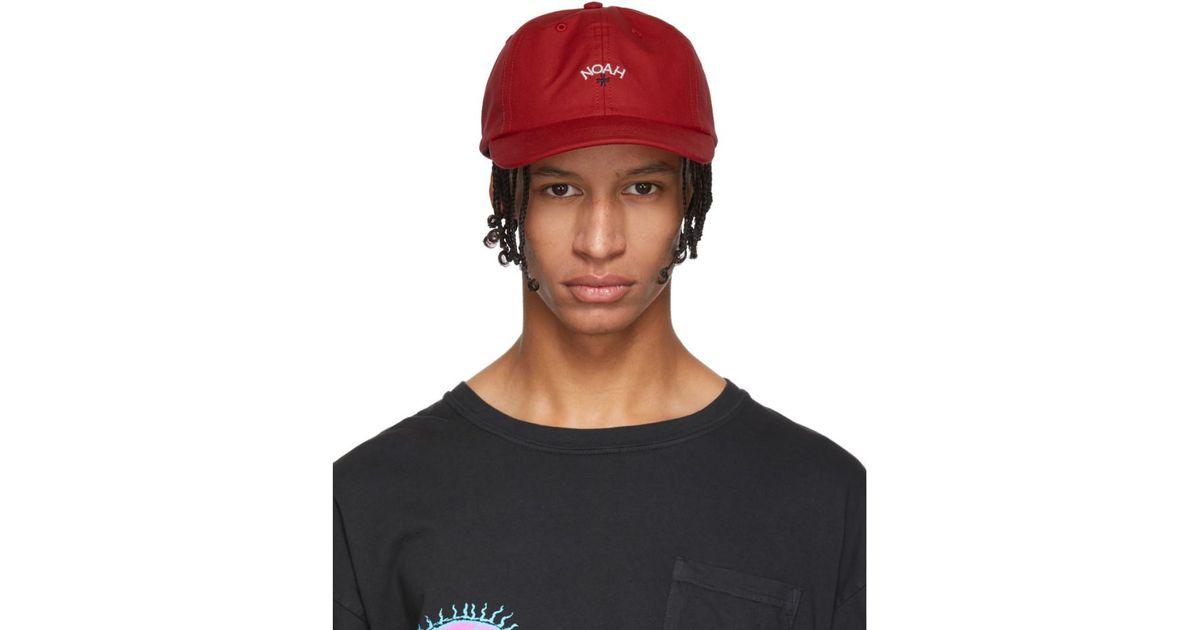 1ae2f7620 Noah NYC Multicolor Red Water-repellent Logo Cap for men