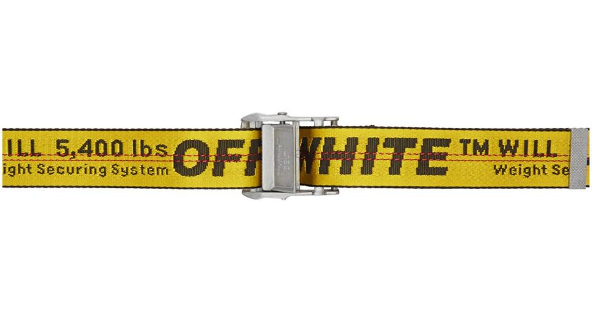 Lyst - Ceinture jaune Industrial exclusive a SSENSE Off-White c o Virgil  Abloh en coloris Jaune 657772052d6