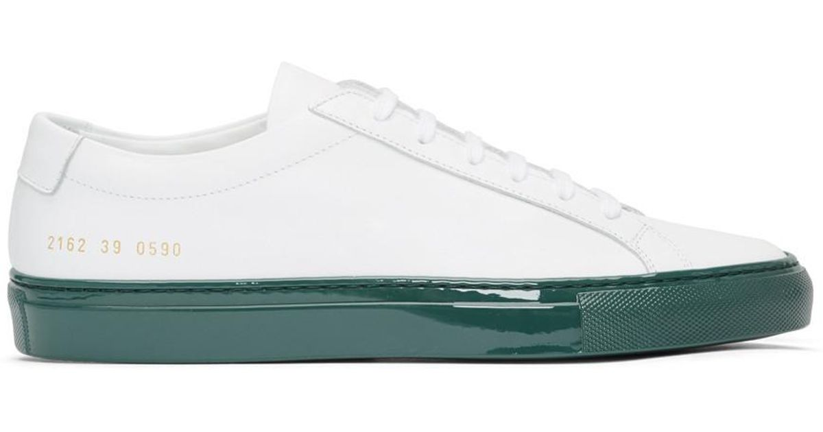 Green Shiny Sole Achilles Low Sneakers