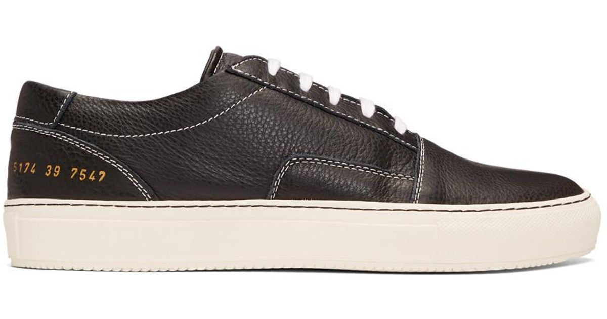 Common Projects Leather Black Skate Low