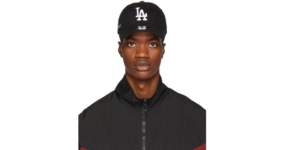 6fb5f087bce0e Marcelo Burlon Black La Dodgers Edition Cap in Black for Men - Lyst