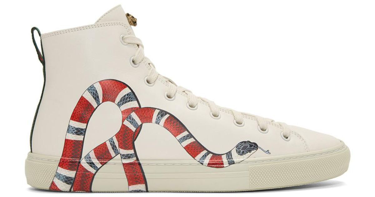 Gucci Off,white Snake Major High,top Sneakers for men