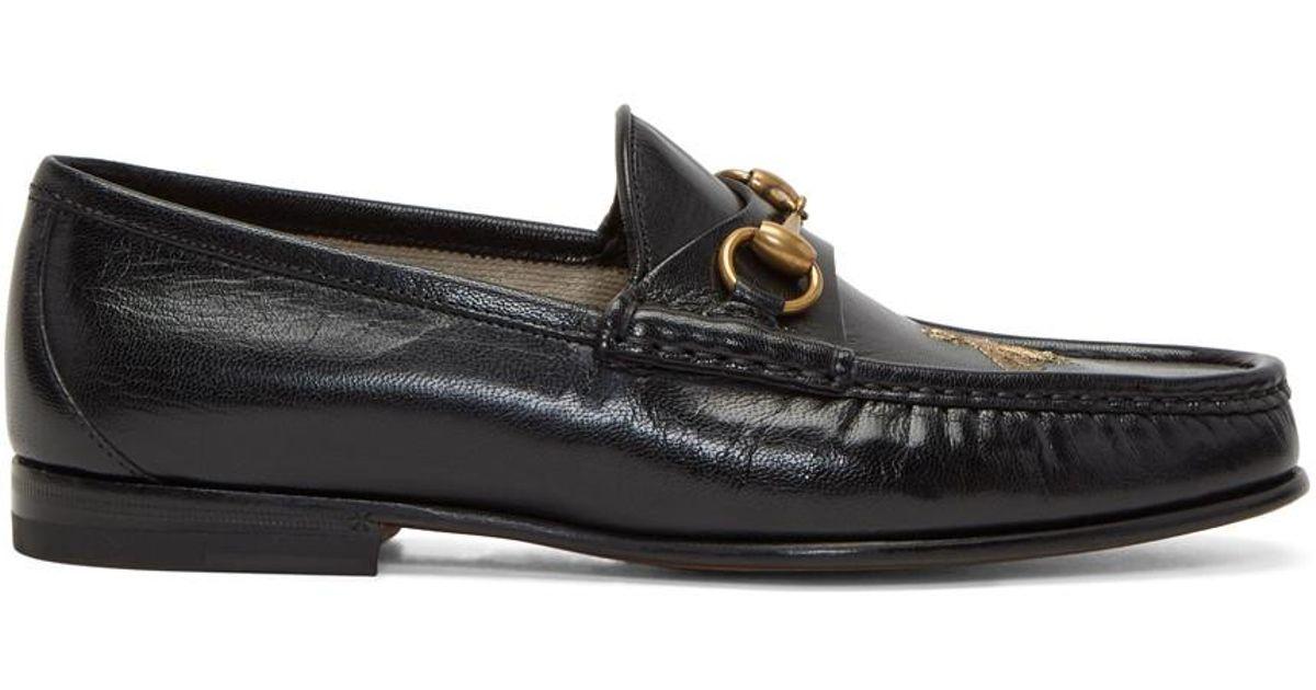 Black Bee Horsebit Loafers Gucci UlHXkq