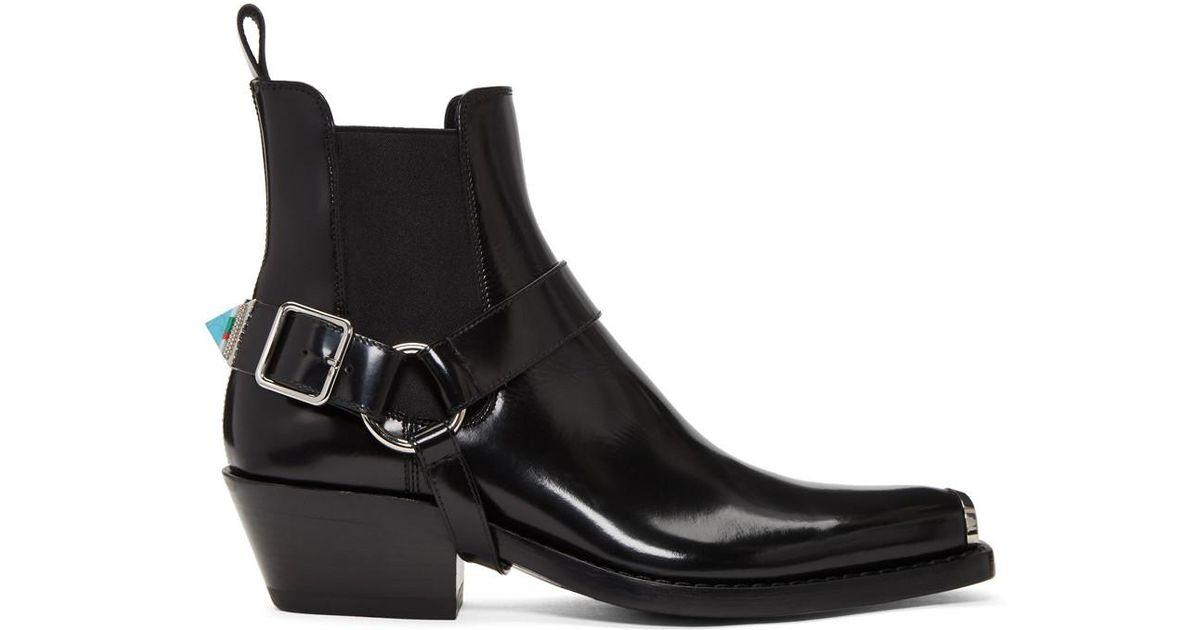 CALVIN KLEIN 205W39NYC Leather Black