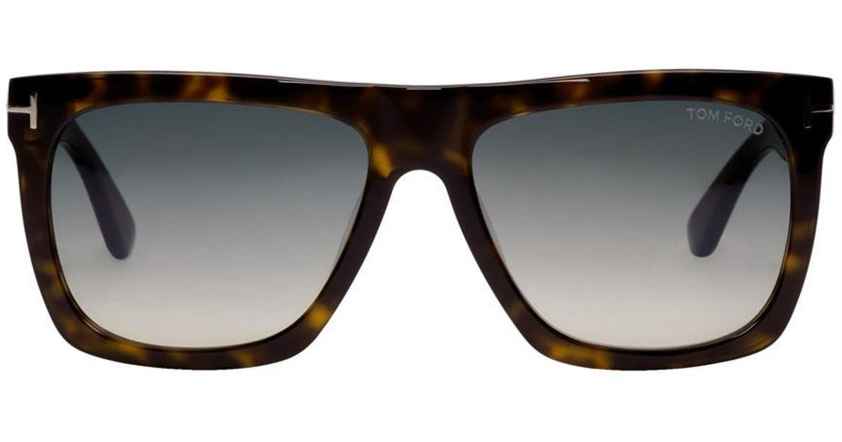 a954e950a8 Lyst - Tom Ford Tortoiseshell Morgan Sunglasses in Black for Men