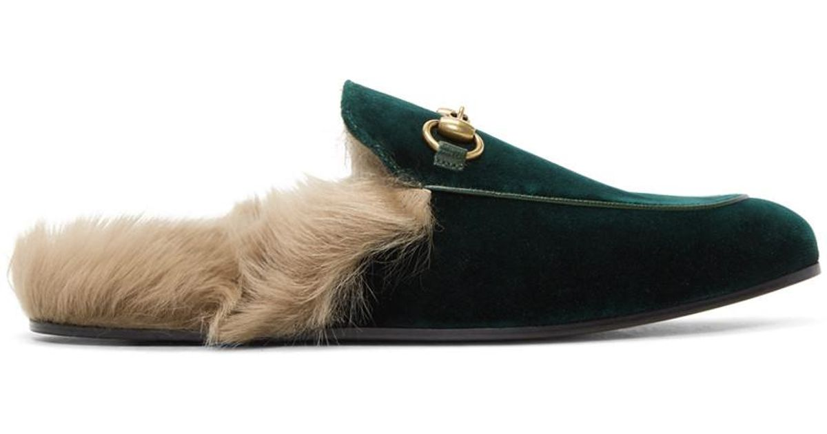 c5e6a8ffa74 Lyst - Gucci  princetown  Slippers in Green for Men