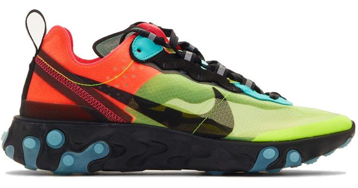 For Multicolor Men React Baskets Vertes Element Lyst Et Nike Bleues 87 BCedxo