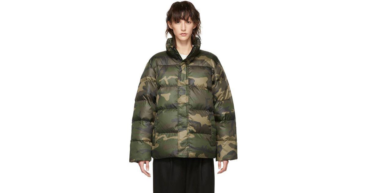 a6b8ff83e8 Carhartt WIP Green Down Camo Deming Jacket