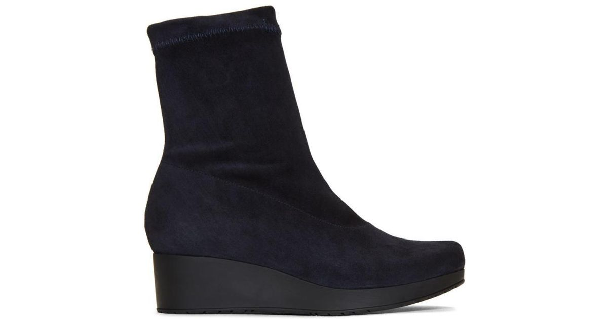 Robert Clergerie Navy Nerdal Boots Hard Wearing Outlet Browse O6tW9
