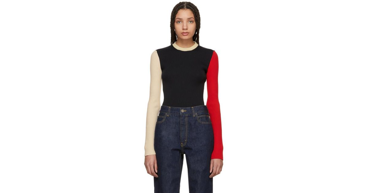 Cheap Get Authentic Black and Ecru Colorblock Sweater CALVIN KLEIN 205W39NYC Free Shipping Websites Many Kinds Of For Sale VH6eV8OEXl