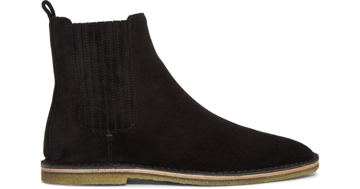 Black Suede Nino Chelsea Boots