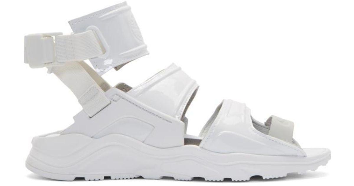 931aa64cea7d Lyst - Nike White Air Huarache Gladiator Sandals in White