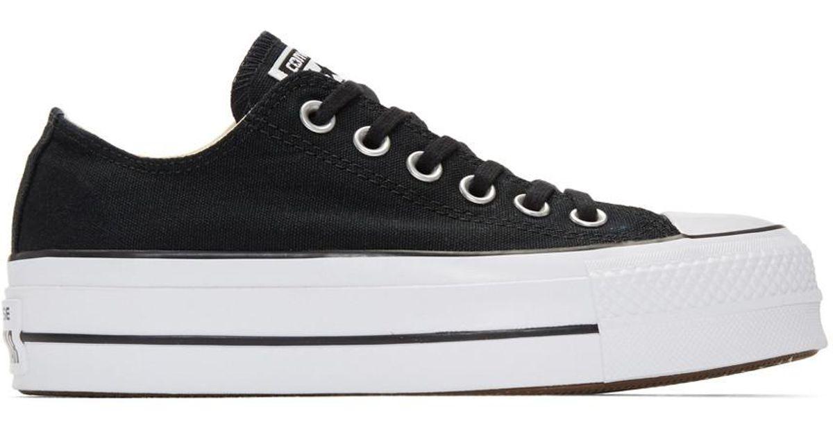 1decb00b8e748 Lyst - Baskets noires et blanches Chuck Taylor All Star Lift Converse en coloris  Noir