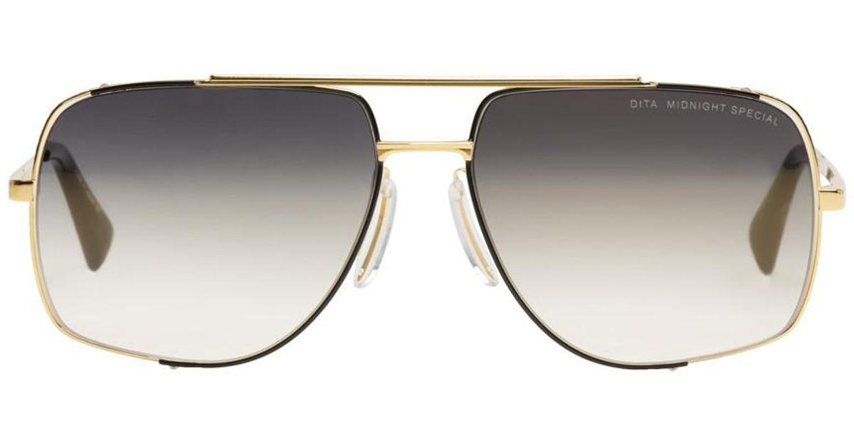 165cd03704 Lyst - DITA Gold Midnight Special Sunglasses in Metallic