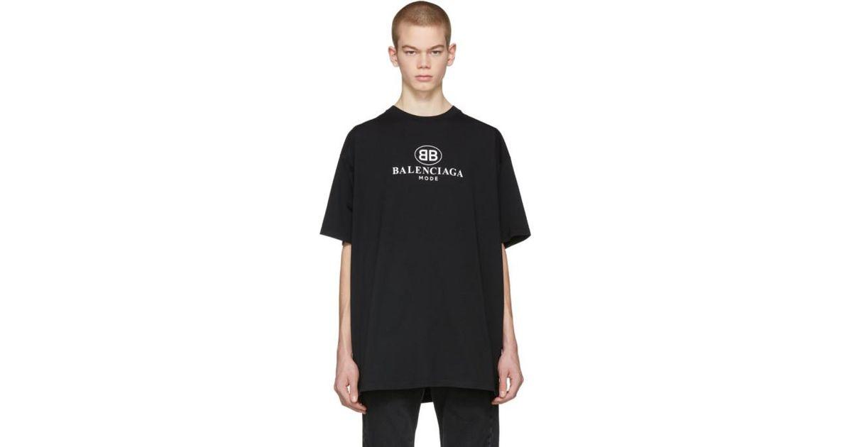 8876c5b6 Balenciaga Black Bb Mode T-shirt in Black for Men - Lyst