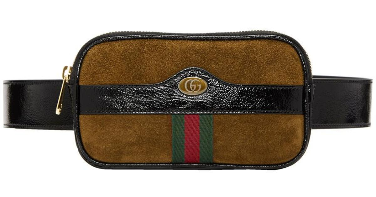 129c3c3d2a4 Gucci Brown Small Suede Ophidia Belt Bag for men