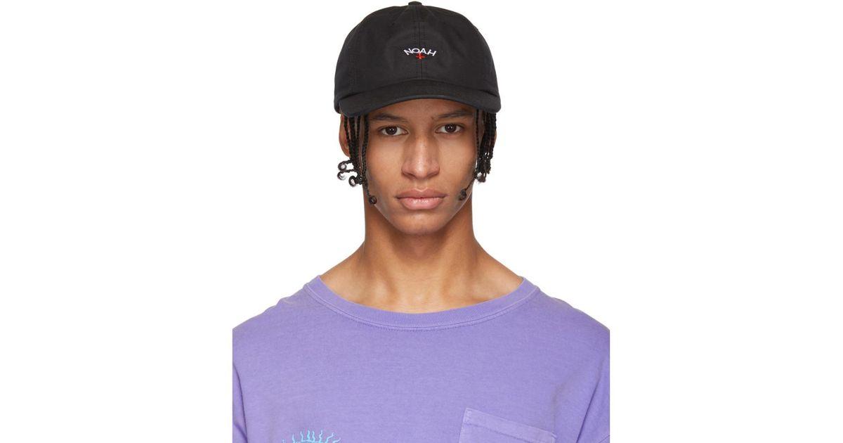 b906bbea015 Lyst - Noah Black Water-repellent Logo Cap in Purple for Men