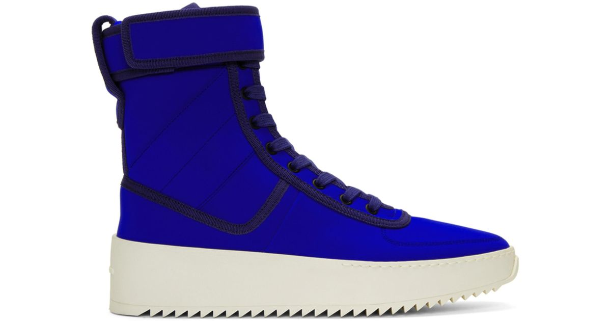 Fear of God Blue Military High-Top Sneakers 38C6N