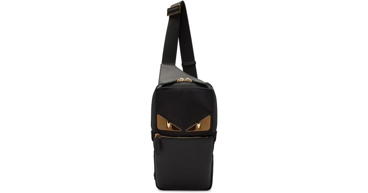 Lyst - Fendi Black Bag Bugs Golden Messenger Bag in Black for Men a5e6d2df6c18e