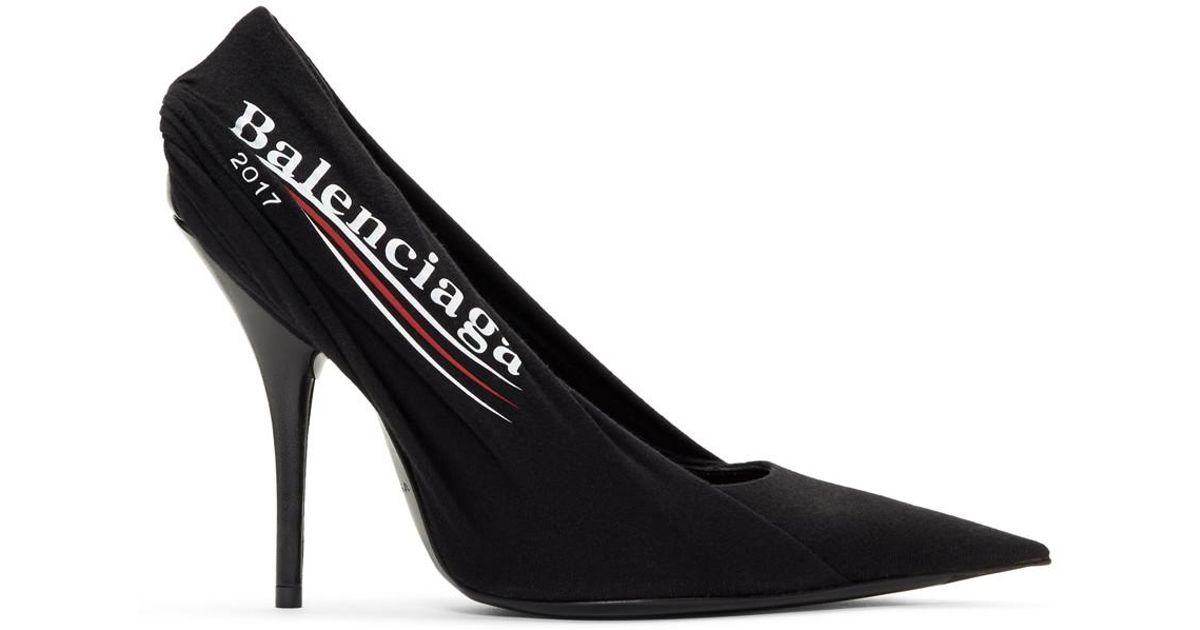 Black Campaign T-shirt Heels - Lyst