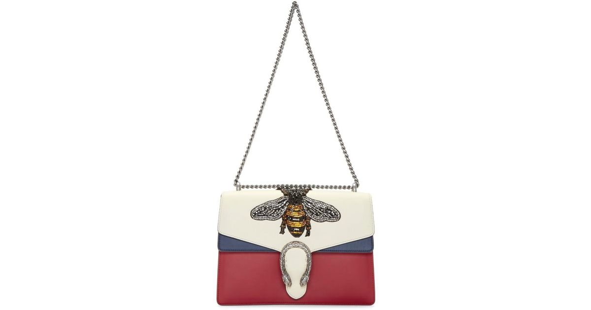 2e0d68a0135 Lyst - Gucci Multicolor Large Dionysus Bag in White