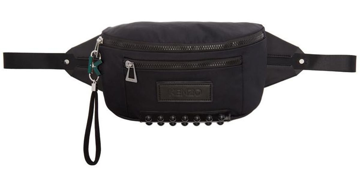 9f4e894b7b KENZO Black Bum Bag for men