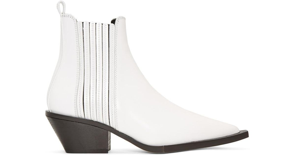 e72242f140d Lyst - Helmut Lang White Cowboy Boots in White