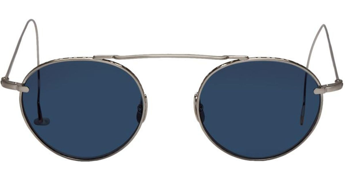 91690cc522e57 Lyst - Mr. Leight Silver And Blue Rei S 49 Sunglasss in Blue for Men