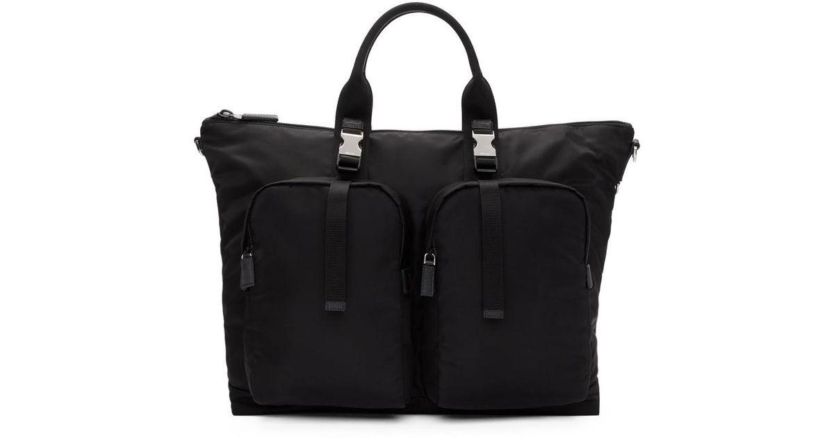 df5a40d2cdef Lyst - Prada Black Mountain Duffle Bag in Black for Men