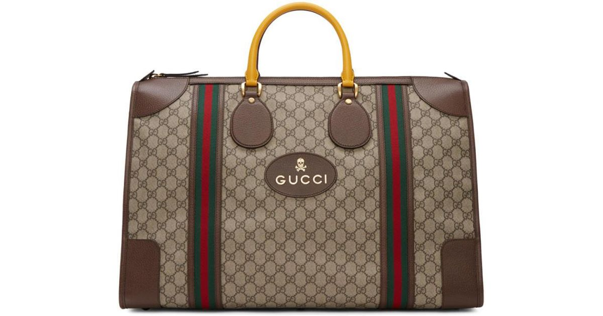 Gucci Beige Neo Vintage Duffle Bag in Natural for Men - Lyst 7fbb02065ada