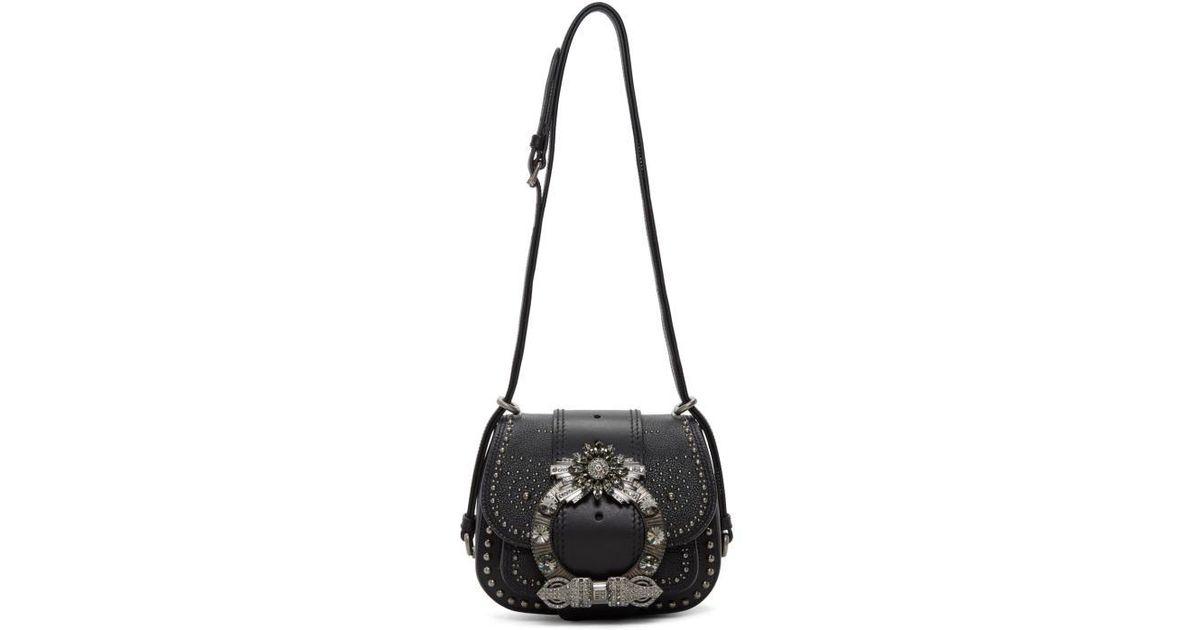 621659d0e533 Lyst - Miu Miu Black Mini Dahlia Bag in Black
