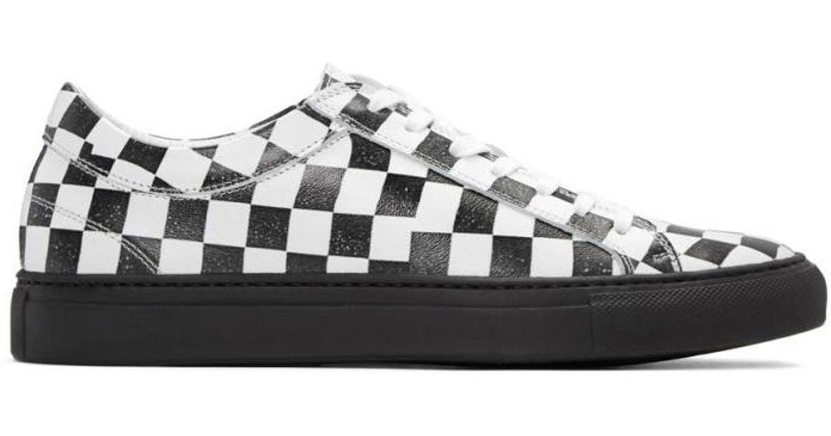 94095b9d459fc Facetasm Black & White Checkered Sneakers for men
