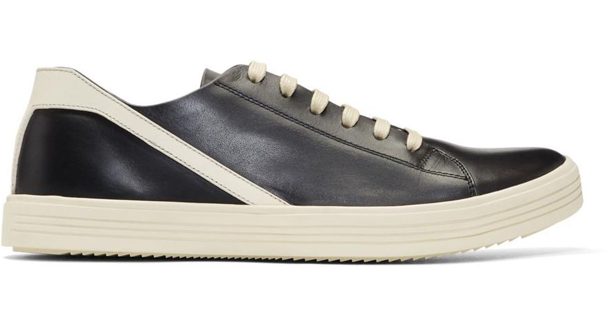 Rick Owens Leather Black And Off-white