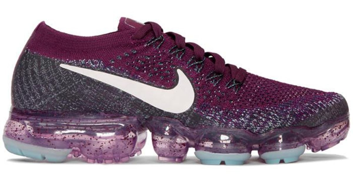 new style 59b31 aa51e Nike Purple Burgundy 'lab' Air Vapormax Running Sneakers