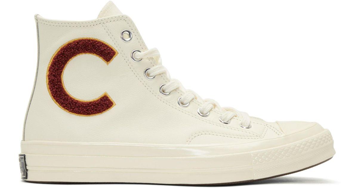 1600624377a Baskets montantes en laine blanches Chuck Taylor All Star 70 Wordmark  Converse pour homme en coloris Blanc - Lyst