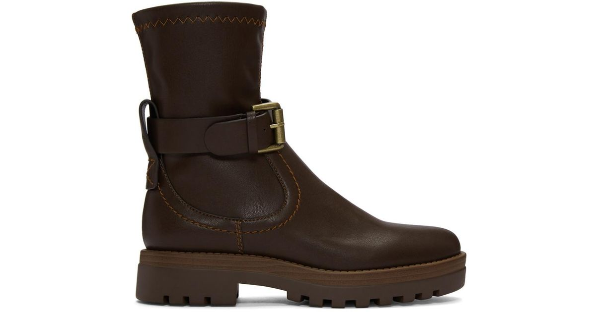See by Chloé Brown Alina Boots Eo1yxENAb